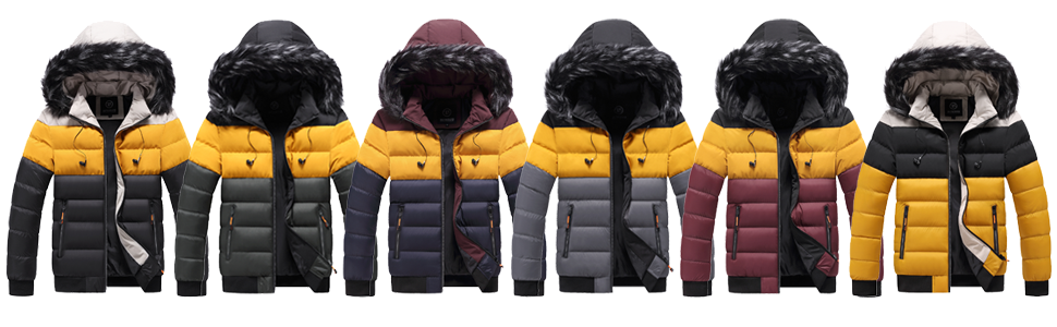 Vcansion Women's Winter Puffer Coat Removable Fur Trim Hooded Thicken Warm Jacket
