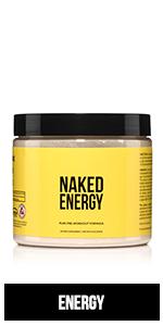 natural pre workout, pre-workout, naked energy, workout energy powder, vegan preworkout mix