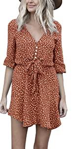 Leopard Button Down Long Sleeve Mini Dress