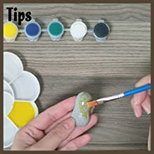 Tips for painting rocks !