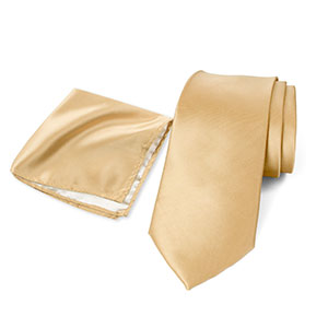 spring notion, antique gold, gold, hanky, neck ties, men, accessories, satin, microfiber, polyester