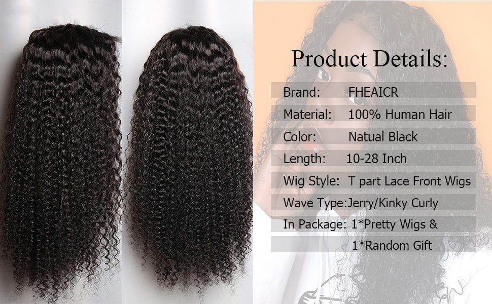 T part curly lace frontal wigs human hair