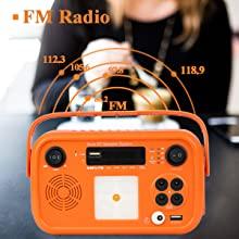 FM Radio of solar generator portable