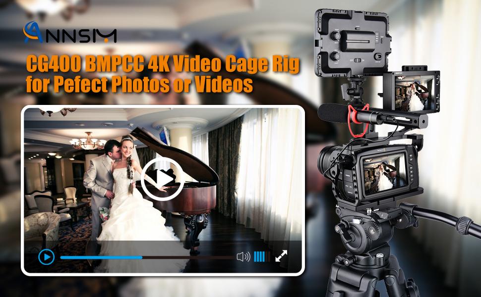 ANNSM BMPCC 4K 6K Video Rig Cage