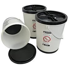 FIFO 5 gallon grain rice wheat pasta sugar long term food storage bucket first in out airtight bags
