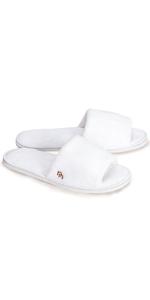 12-Pack Open Toe Coral Fleece Slipper, White (Large)