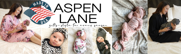 aspen lane, matching robe and swaddle blanket, baby, gown, newborn, gift