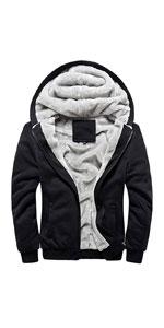 Winter Thick Fleece Lined Zip Hoodie Sweatshirts
