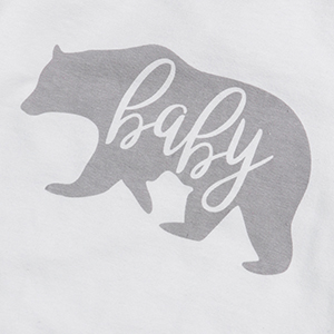 Infant Newborn Baby Boys Girls Clothes Baby Bear Print Long Sleeve Romper Bodysuit One-Piece Onesies