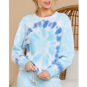 blue sweatshirts pullover top