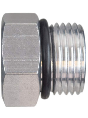 ICT Billet -10AN ORB Straight Thread Plug Male Nut Cap Fitting Aluminum AN814-10