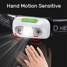 headlamp with motion sensor