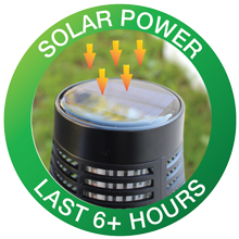solar-powered LED and zapper