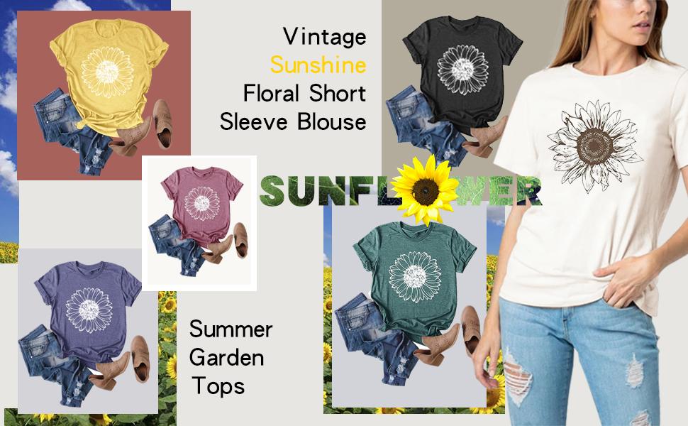 Women Sunflower Graphic Shirt