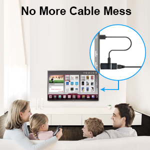 No more cable mess