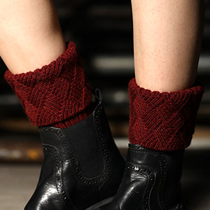 Wine Boot Cuffs