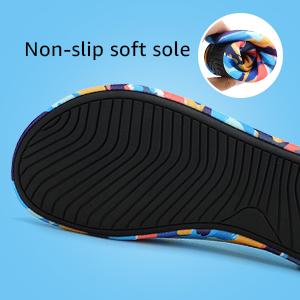 Non-slip soft sole