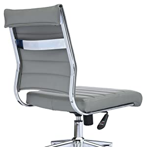 office, gray, chair, tilt, ergonomic adjustable height