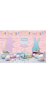 bunny basket lily flowerpot flower faux colorful buntings dessert revive texture fence natural