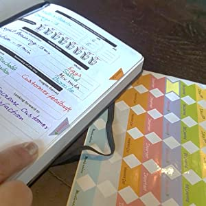 Sticker Tabs Penguin Planner productivity undated  work-life balance personal coach vision