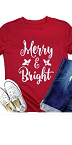 Merry And Bright Christmas Shirt