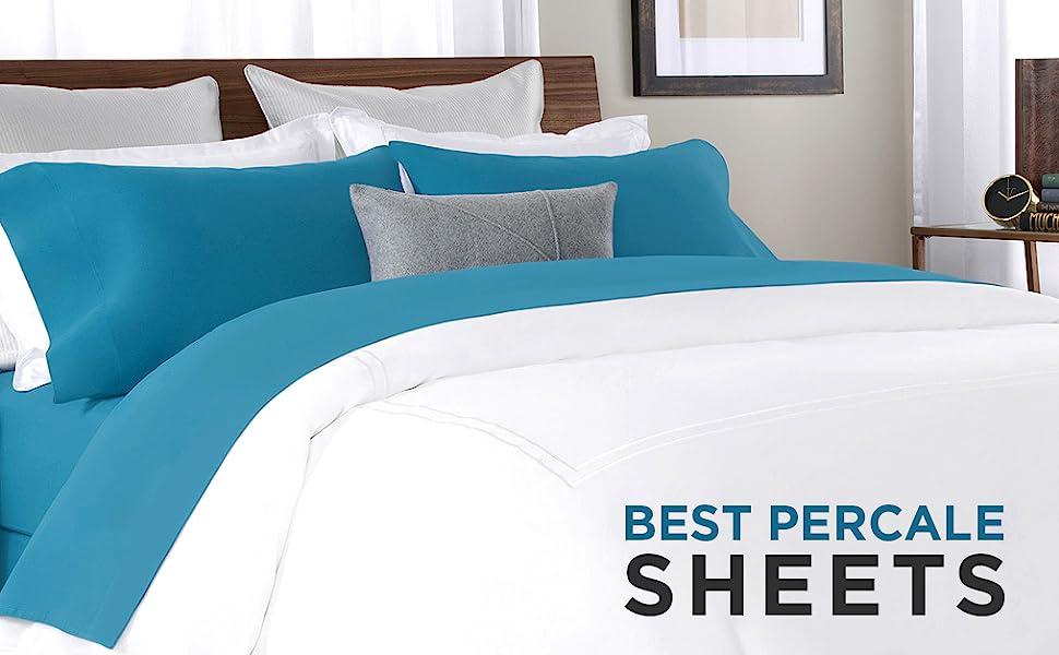 percale sheet set finest cotton fibers woven delicacy soft cotton staples durable breathable