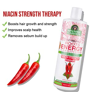 spanish garden, niacin, shampoo, hair, roots, treatment