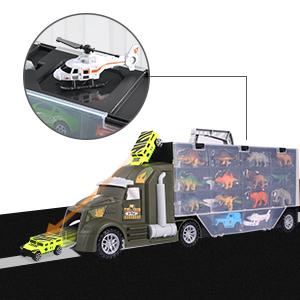 Dinosaur Transport Car Carrier Truck