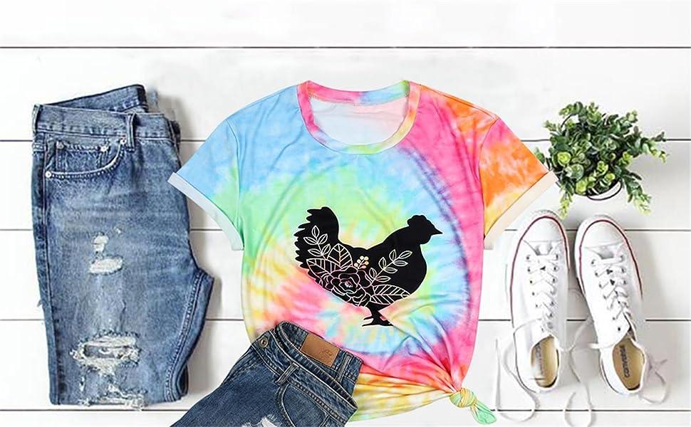 Girls Summer Cute loose-fitting O-neck Tee shirt