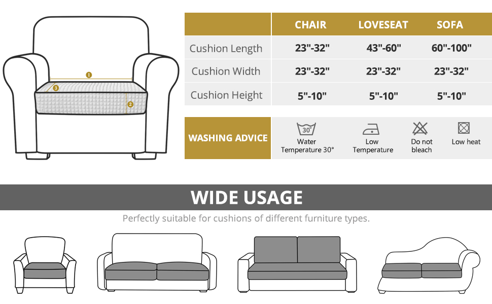 couch cushion replacement cover