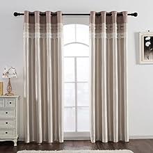 beige blackout curtains