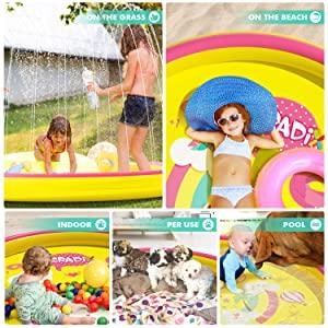 kids water sprinkler splash play mat outdoor water pool toys