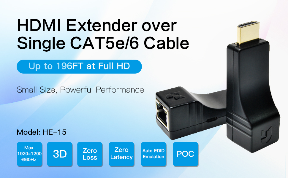 DDMALL HDMI Extender over Single CAT5e/CAT6 Cable