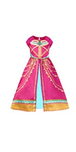 Adorable Jasmine dress for your little princess This jasmine costume is made of 100% polyester with