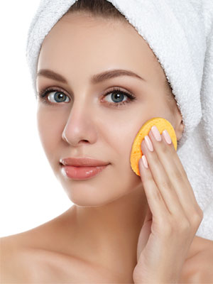 daily face cleansing makeup removal pad spa sponge compressed compress cleanser beauty supplies
