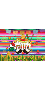 Colorful Mexican Fiesta Photography Backdrop Bridal Shower Decor Vinyl 6x4ft