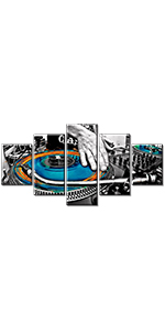 music wall decor dj canvas art artwork living room painting picture poster frame kitchen home modern