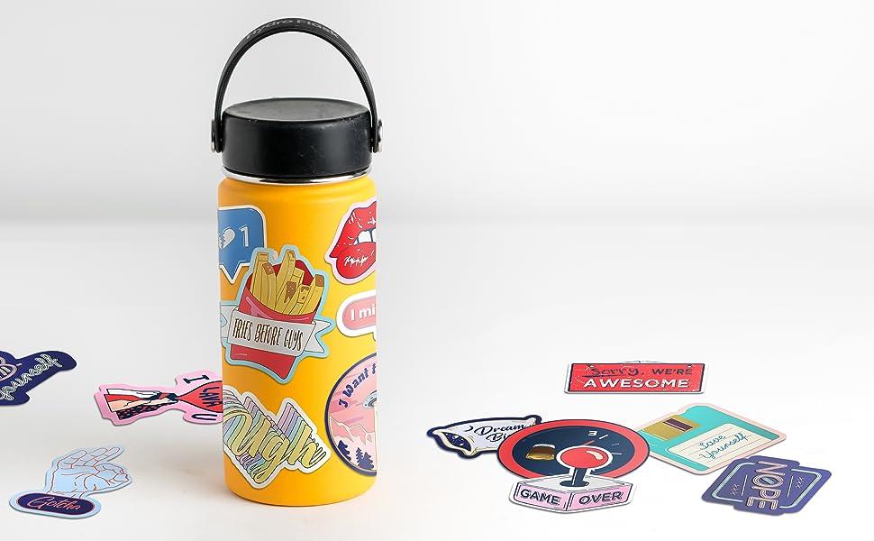vsco girls oriday water bottle laptop skateboard stickers