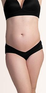 Under the bump bikini maternity panties