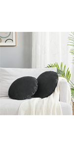 Round Pillows with Inserts