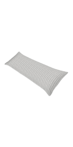 Grey and White Herringbone Arrow Body Pillow Case Cover for Gray Woodland Forest Friends Collection