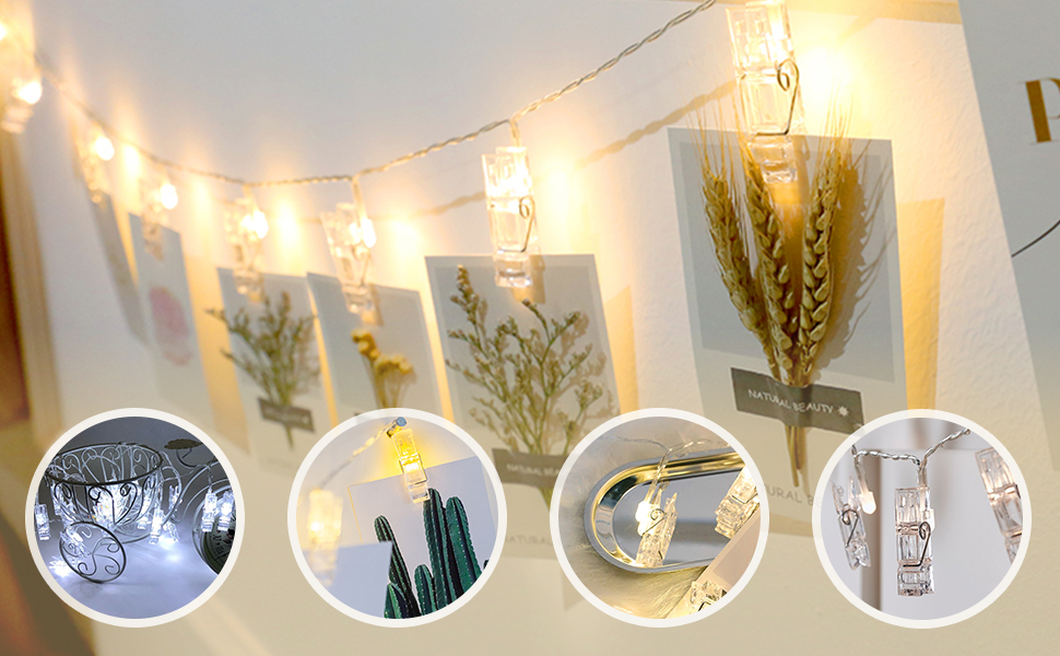 photo clips string for christmas halloween decoration lights living room decor with clips lights