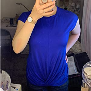 womens tops blue