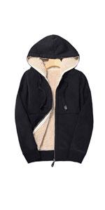Winter Warm Sherpa Lined Full Zip Hoodie
