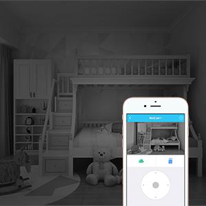 night vision camera, baby camera with audio, app remote control baby monitor