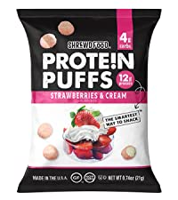 Strawberries and Cream Protein Puffs
