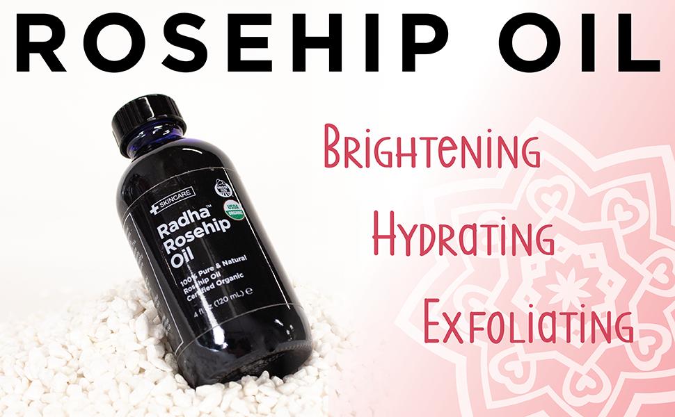 Rosehip, brightening, exfoliating