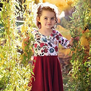Toddler Girl Floral Twril Dresses