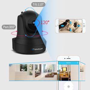 ptz camera for home security, smart camera, wifi surveillance camera