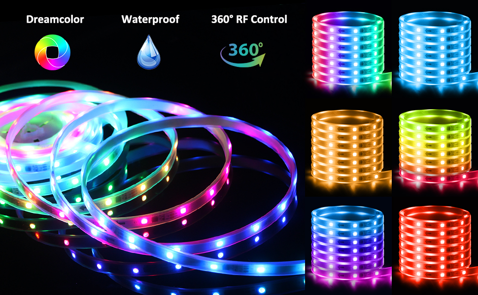 led rope lights chase effect